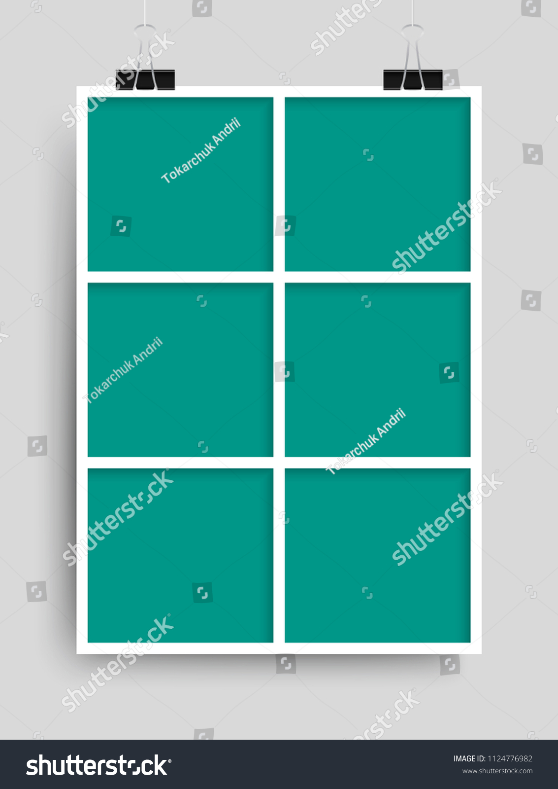 Templates Collage Six Frames Photo Illustration Stock Vector ...