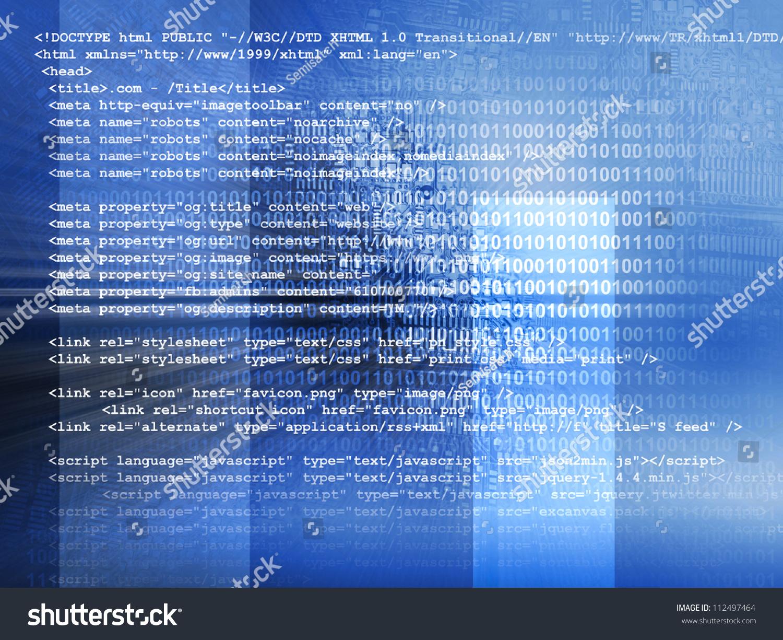 Background image xhtml - Source Code Technology Background