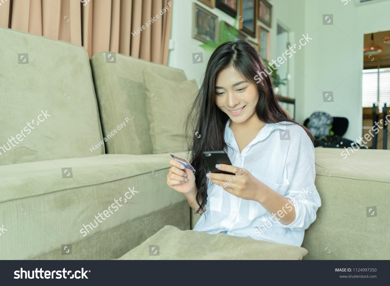 Black girl online shopping
