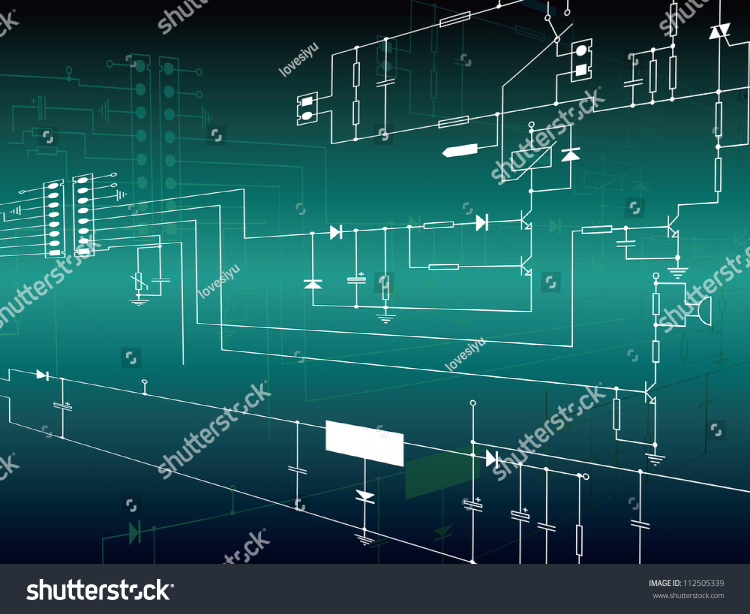 Electronics Background Circuit Diagrams Stock Vector (Royalty Free ...