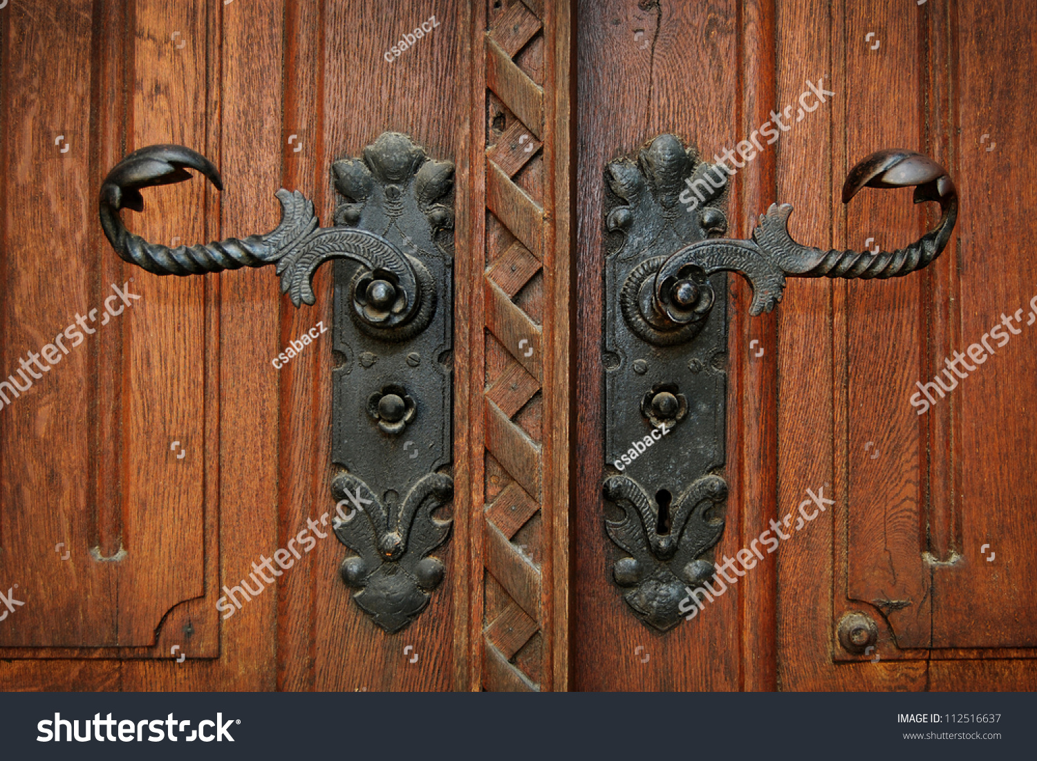 Antique door handles - Antique Door Handles Stock Photo 112516637 - Shutterstock
