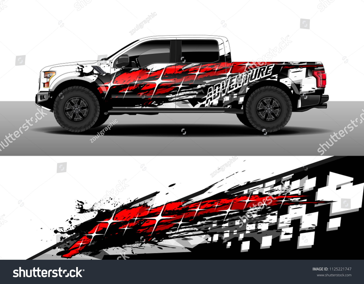 Truck and car decal wrap vector graphic abstract racing stripe designs for wrap vehicle