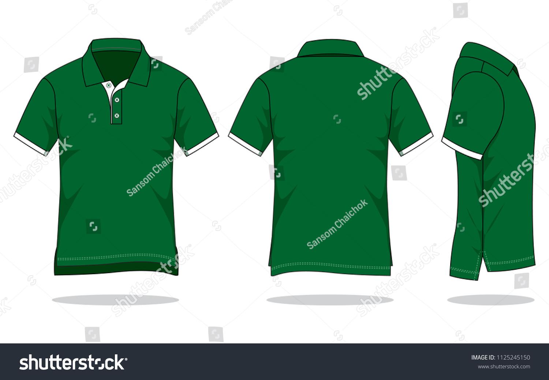 Mens Dark Green Polo Shirt Vector Stock Vector Royalty Free