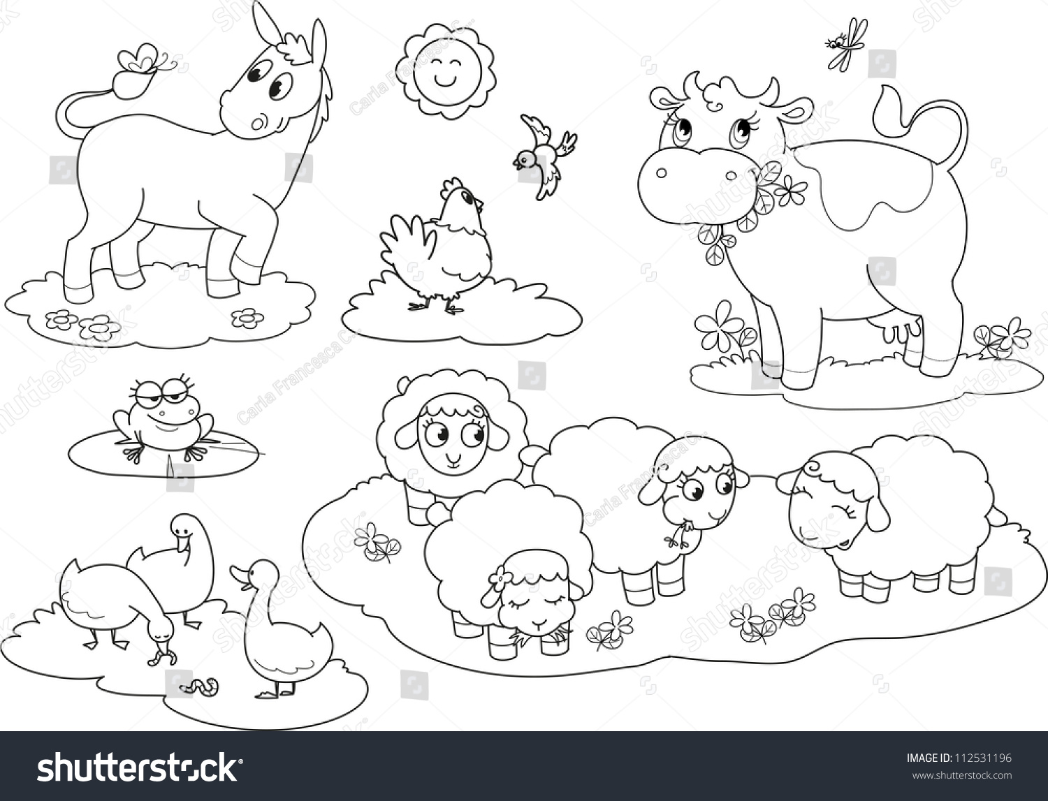 coloring farm animals for children
