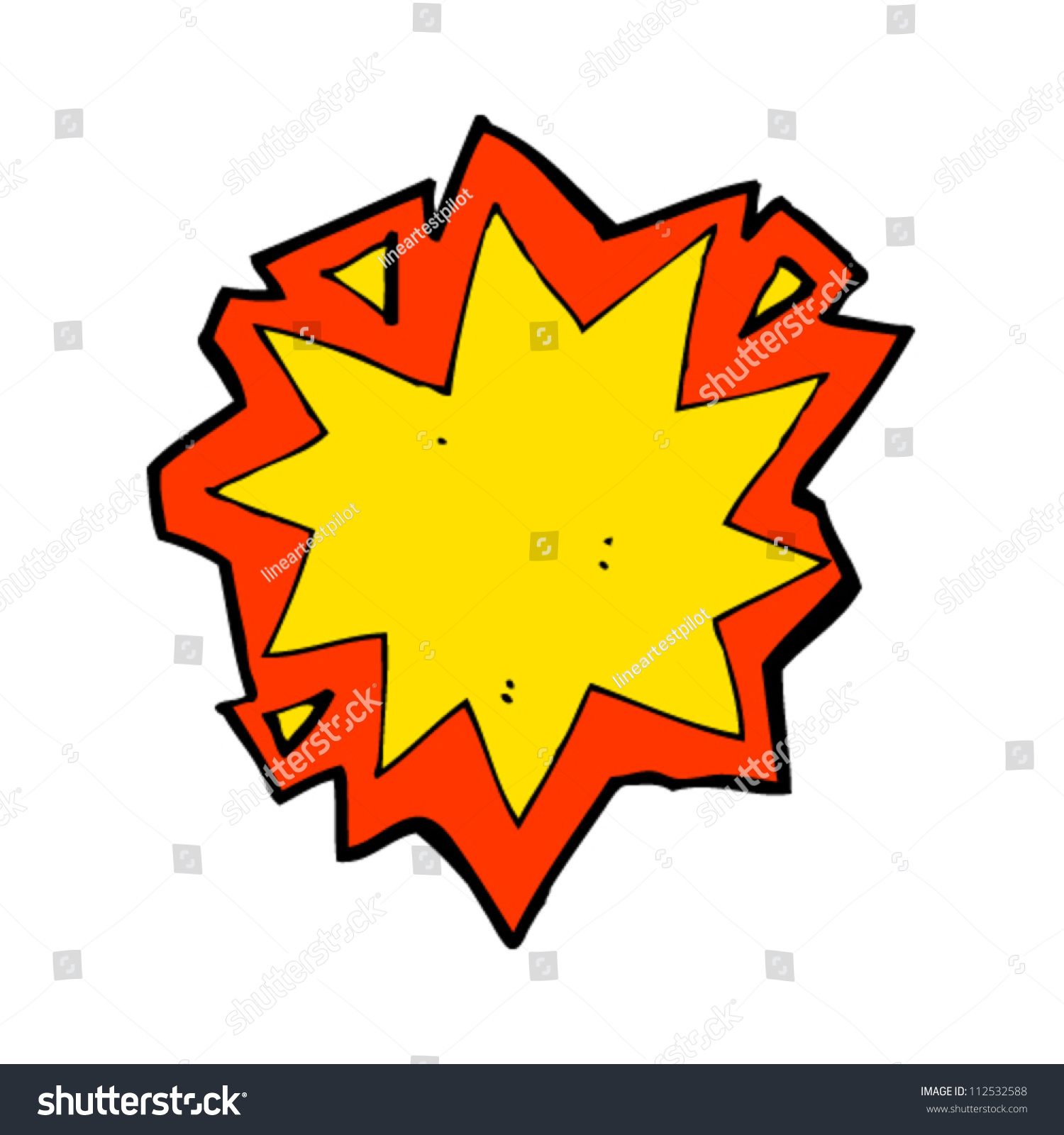 Cartoon explosion symbol stock vector 112532588 shutterstock cartoon explosion symbol buycottarizona