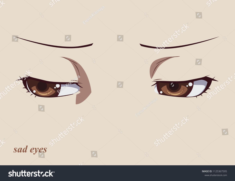 Anime eyes so sad and nice