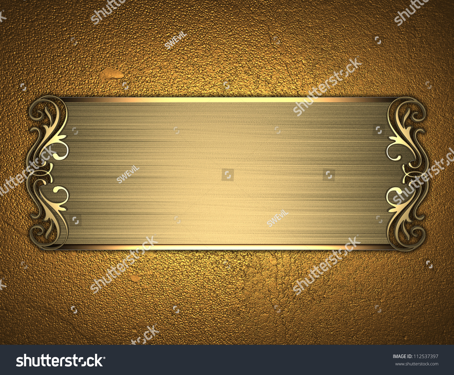 Template inscription gold background gold nameplate stock for Nameplate template free