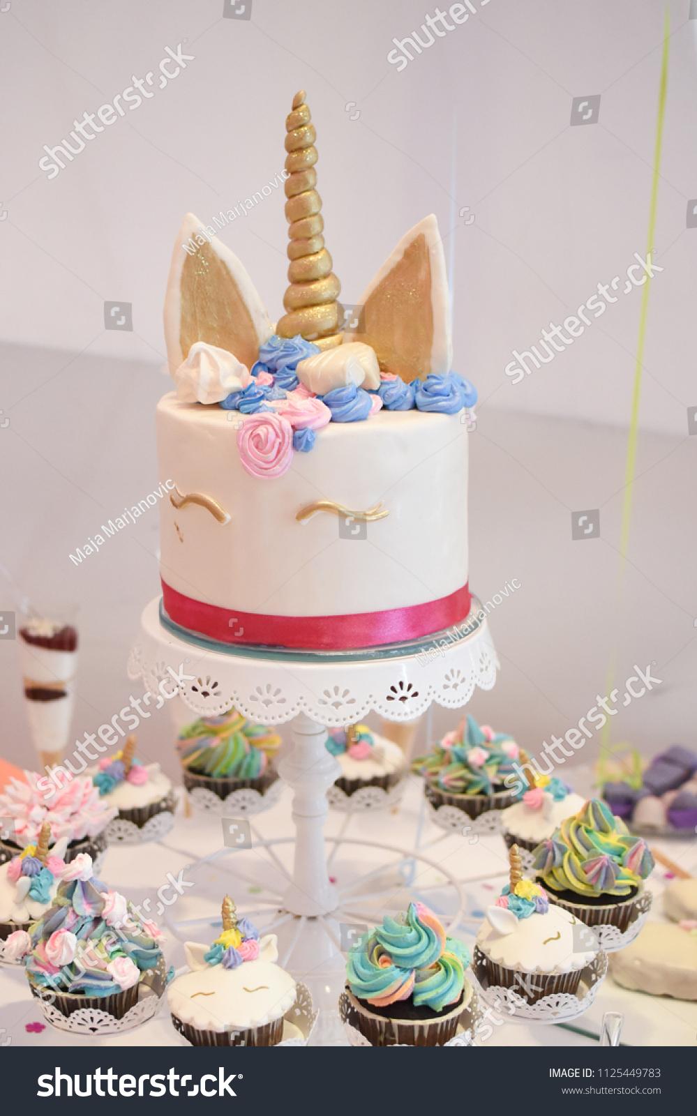 Peachy Sweet Table Big Cake First Birthday Stock Photo Edit Now 1125449783 Funny Birthday Cards Online Elaedamsfinfo