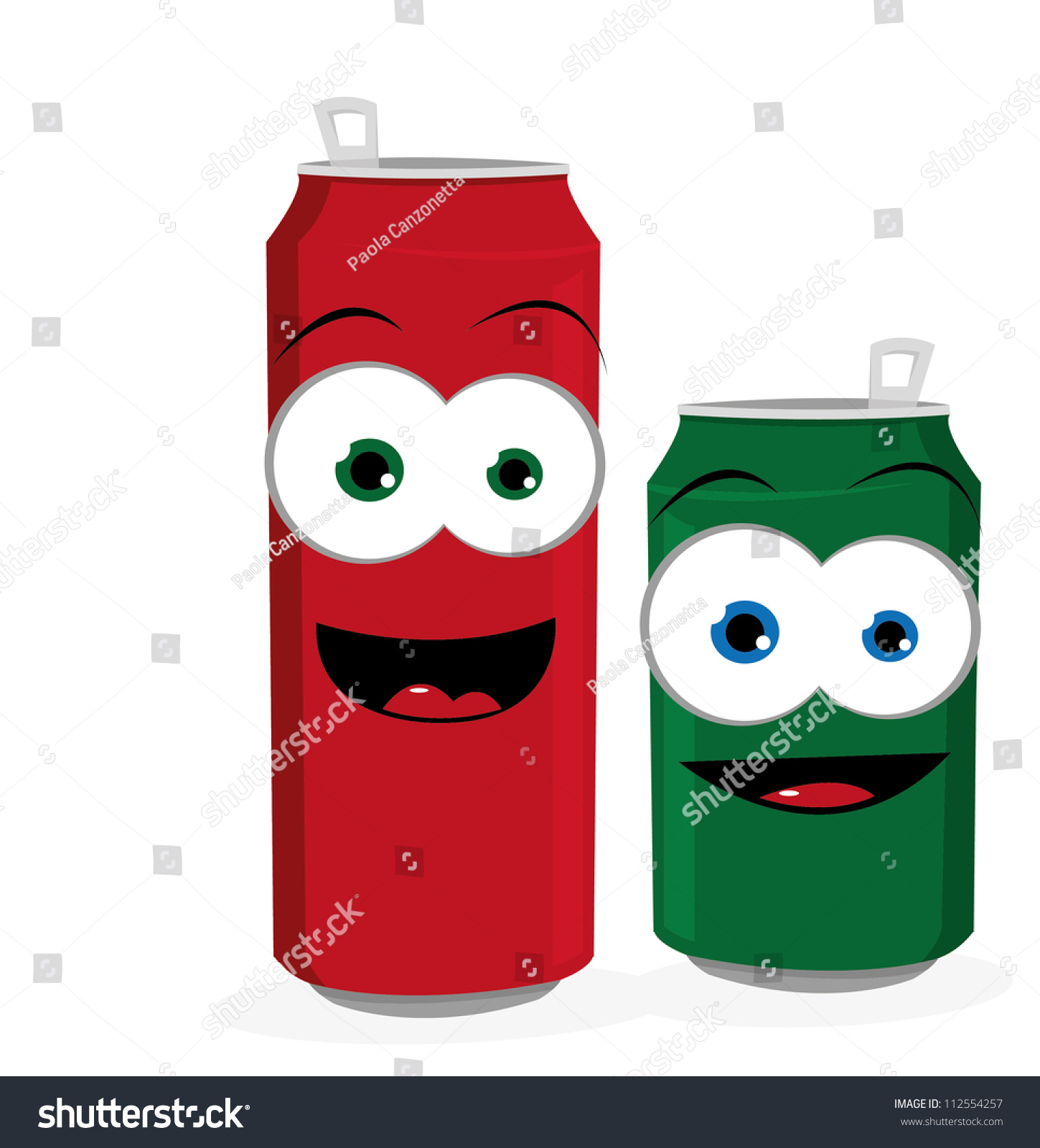Red Soda Can With Bubbles And A Happy Smile Stock Vector - Image ...
