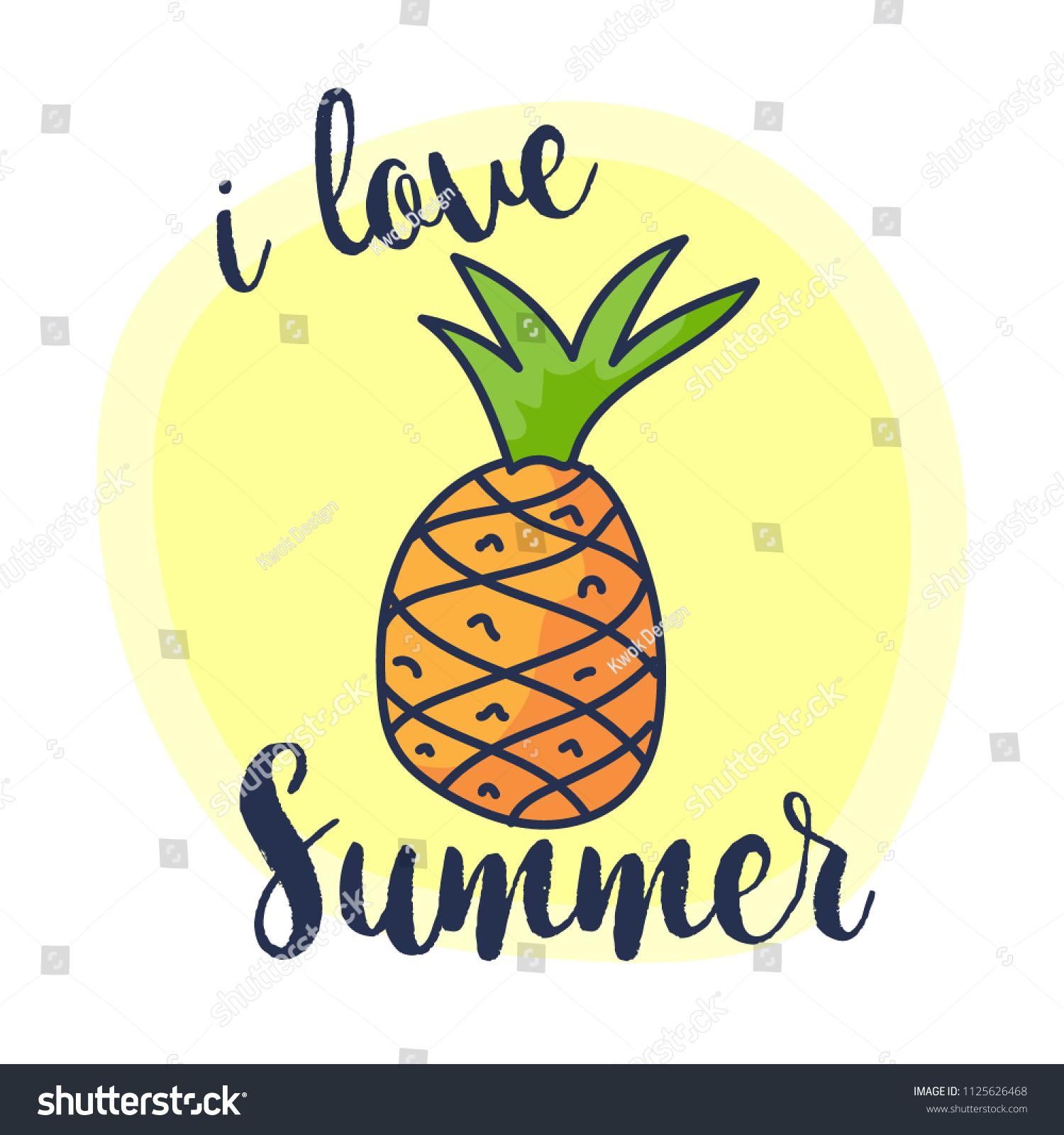 Cute Pineapple Drawings Www Topsimages Com
