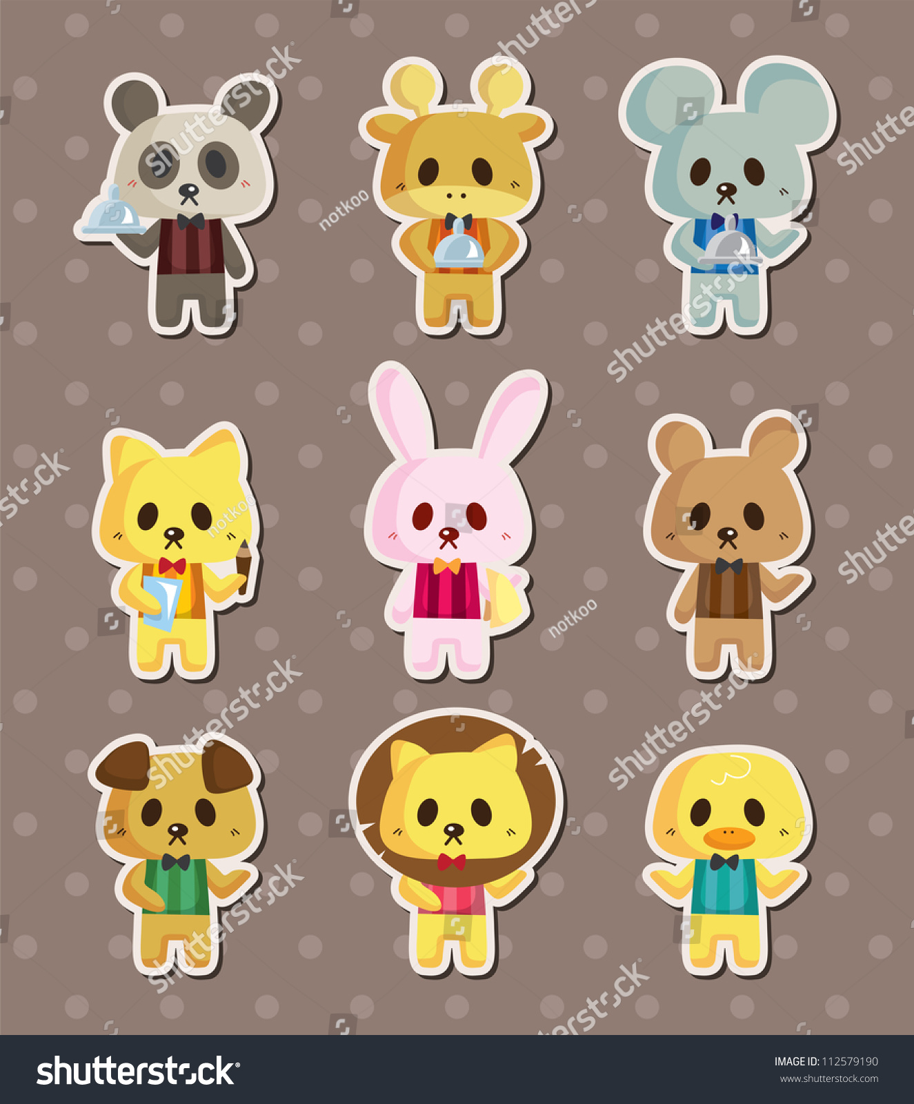 cartoon animal stickers in - photo #26