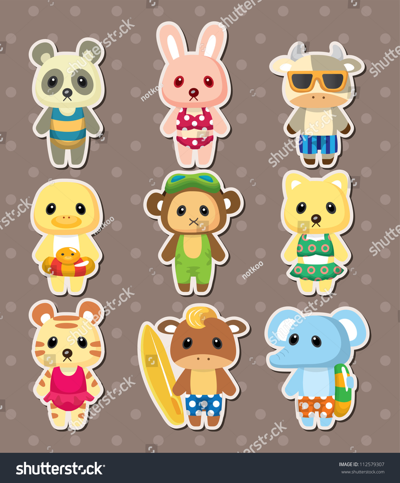cartoon animal stickers in - photo #33