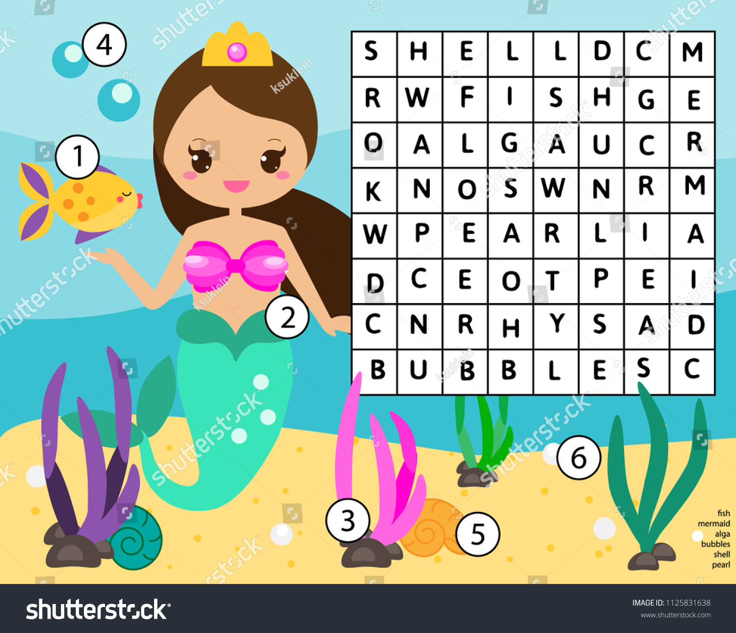 Word Search Puzzle Kids Activity Educational Stock Illustration ...