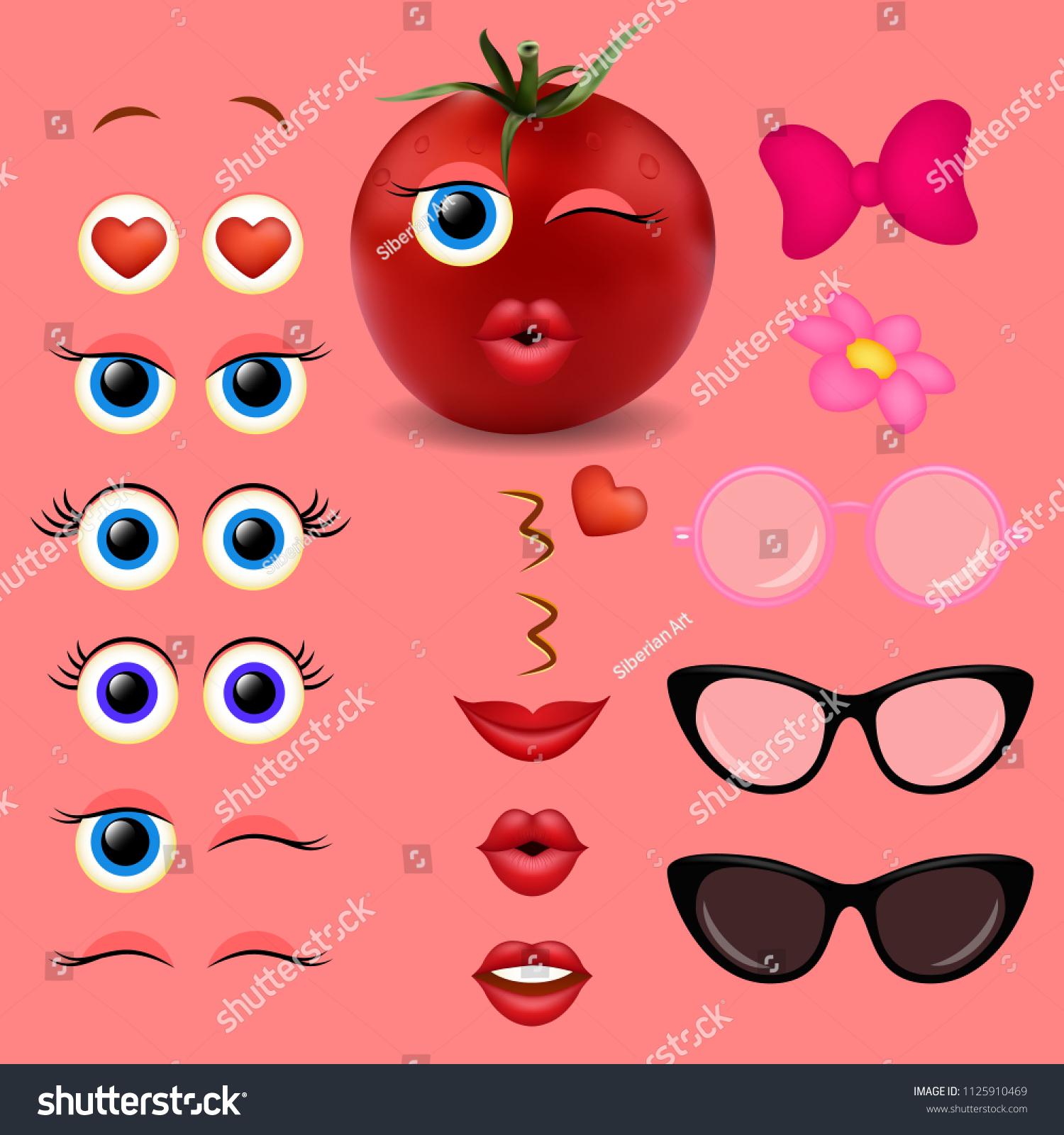 Vector de stock (libre de regalías) sobre Tomato Girl Emoji