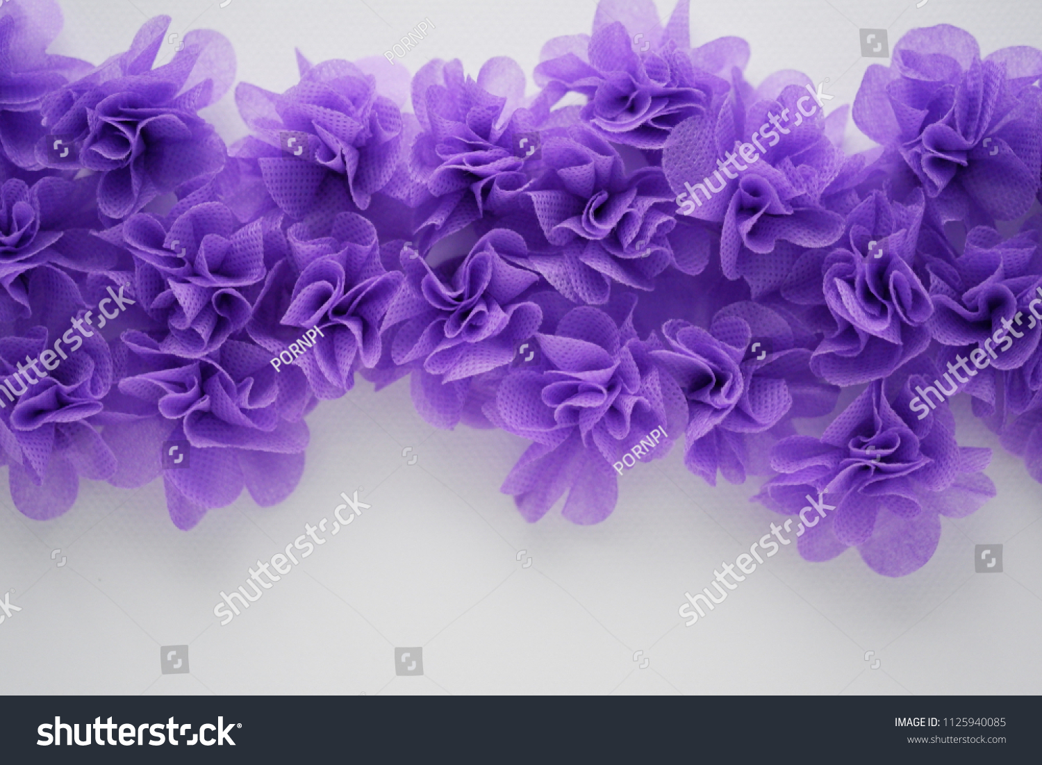 Purple Artificial Flower Made Mulberry Paper Stock Photo (Edit Now