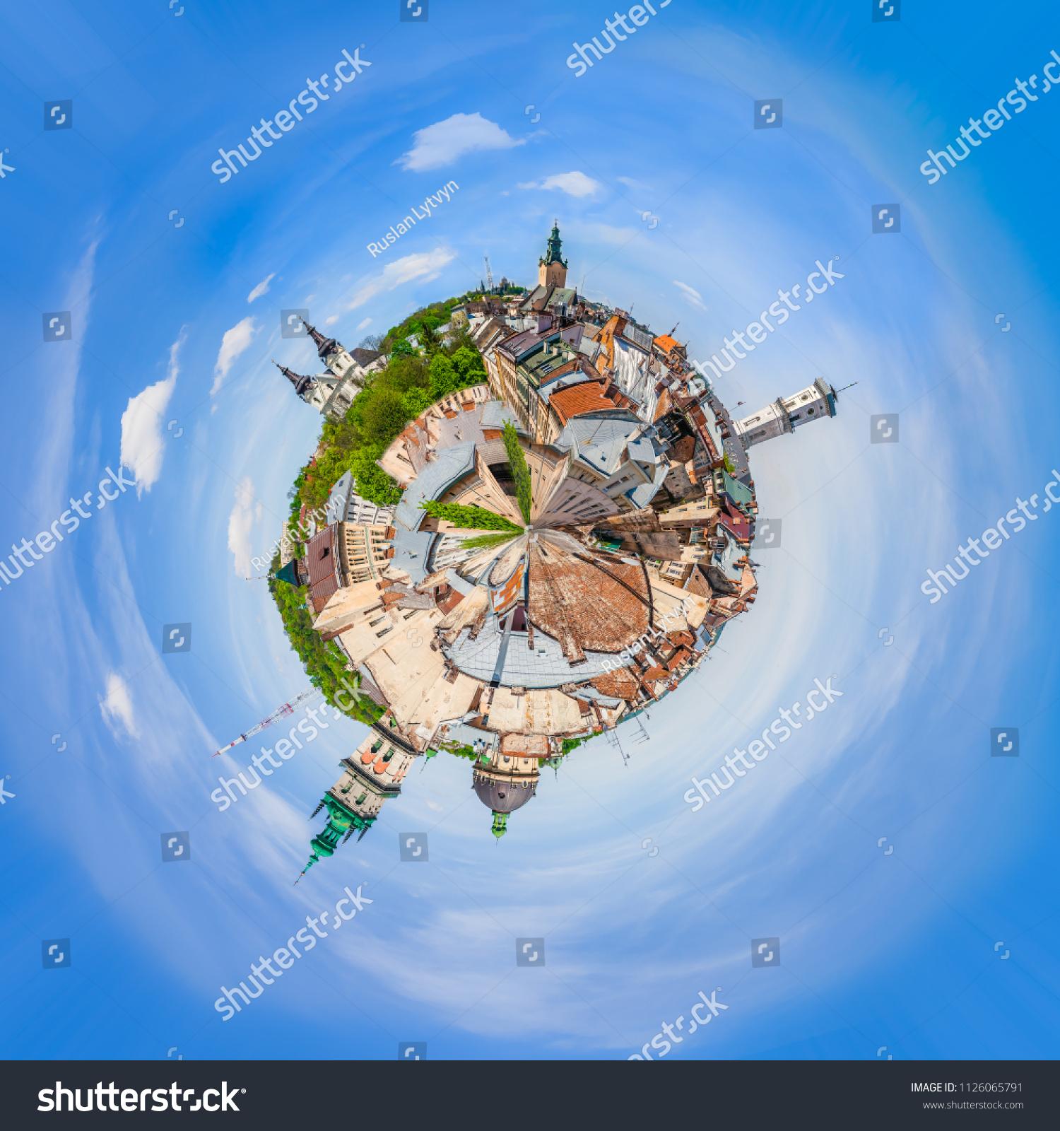 Miniature Planet Lviv 360 Degree View Stock Photo Edit Now