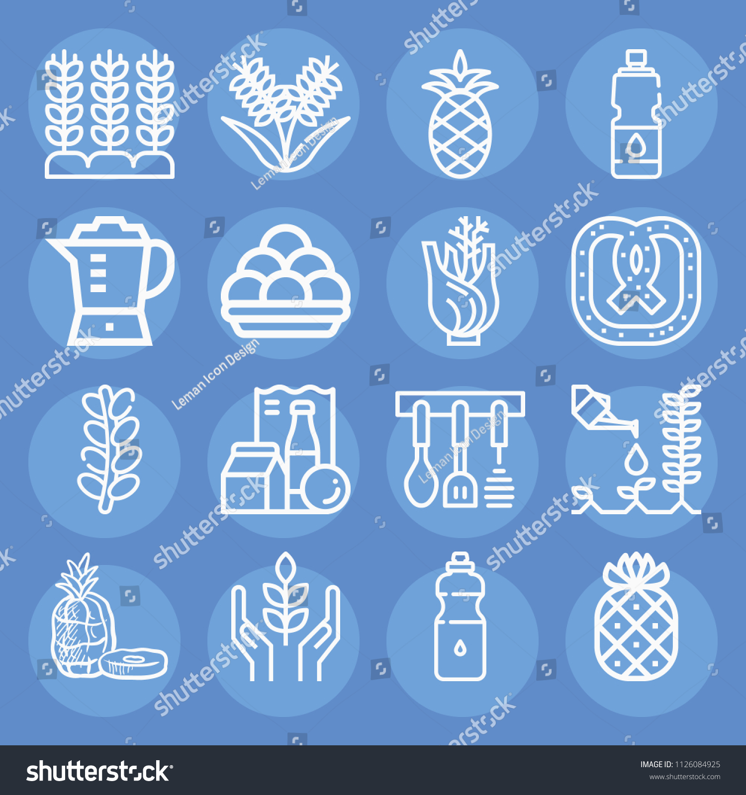Food Outline Set Vector Icons Such Stock Vector 1126084925 ...