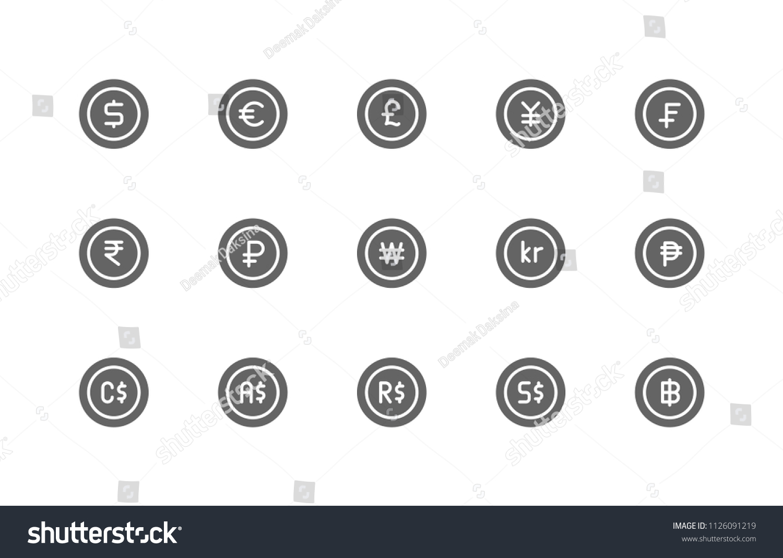 Currency Icon Design Vector Symbol Dollar Stock Vector Royalty Free