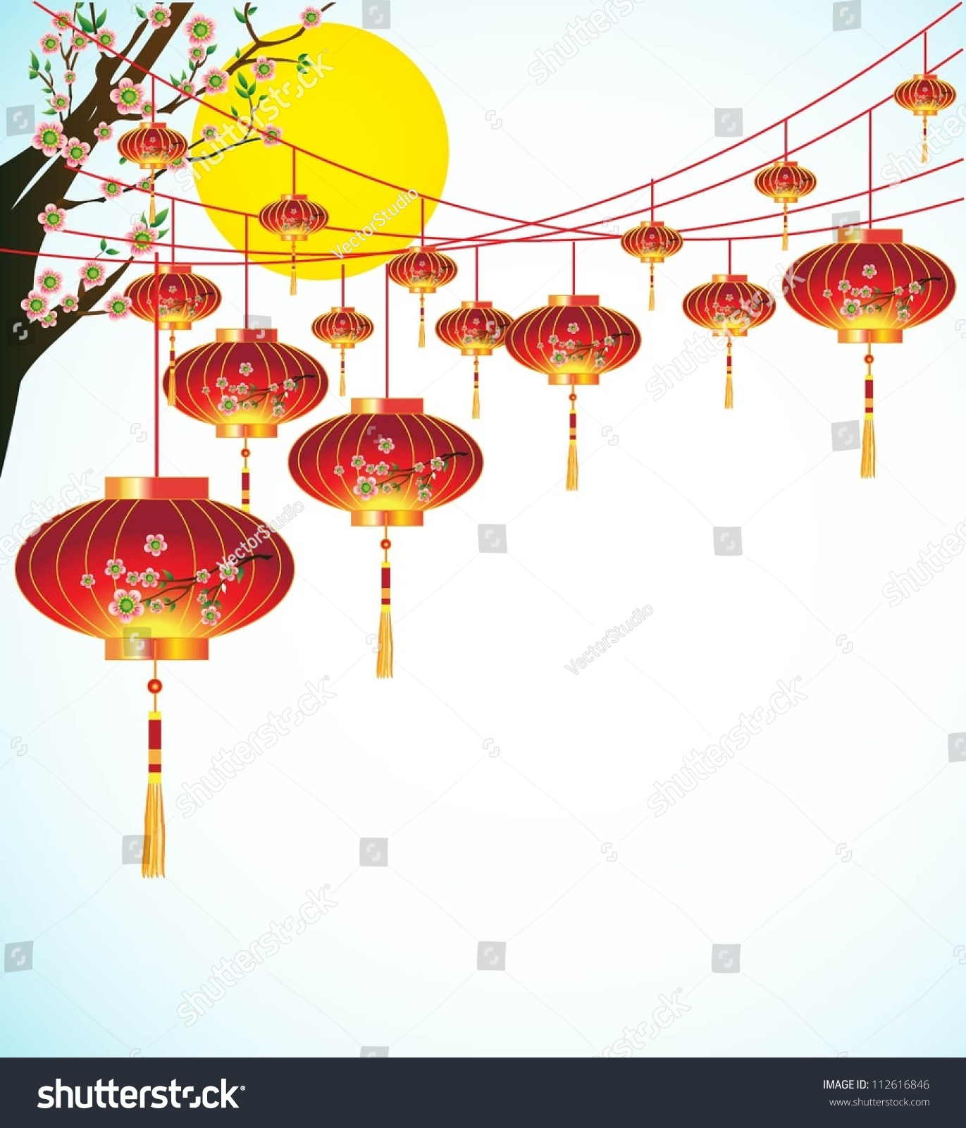 Big Chinese Traditional Lanterns Background Traditional ...