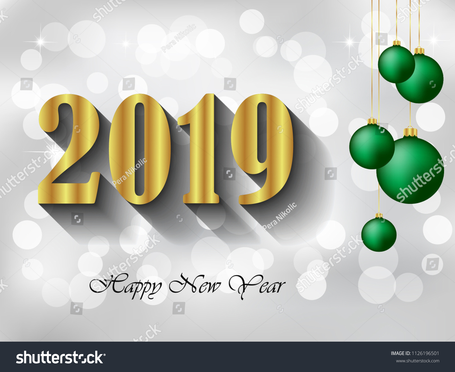 2019 Happy New Year Background Your Stock Illustration 1126196501