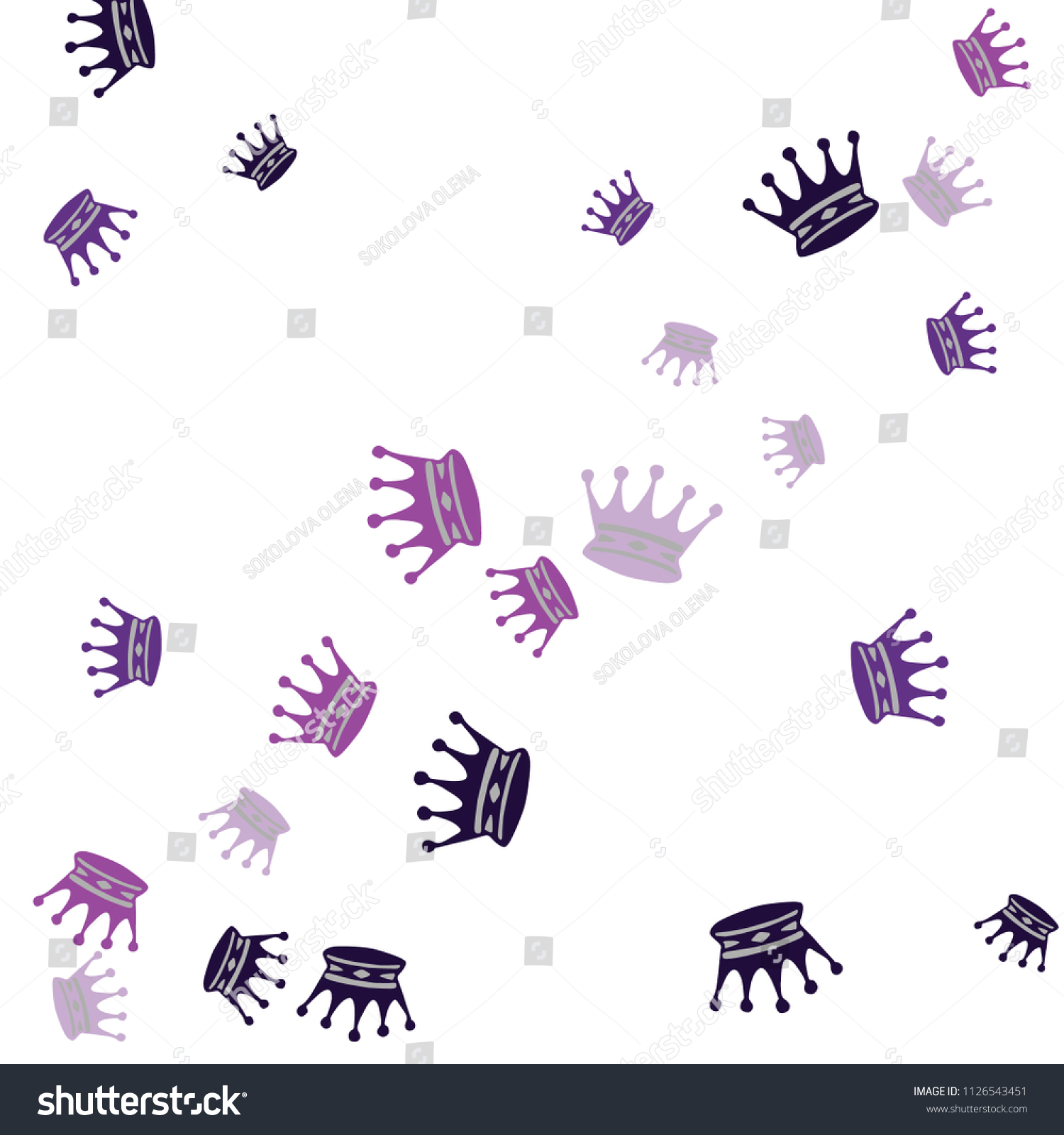 elegant vector background colored crowns simple stock vector