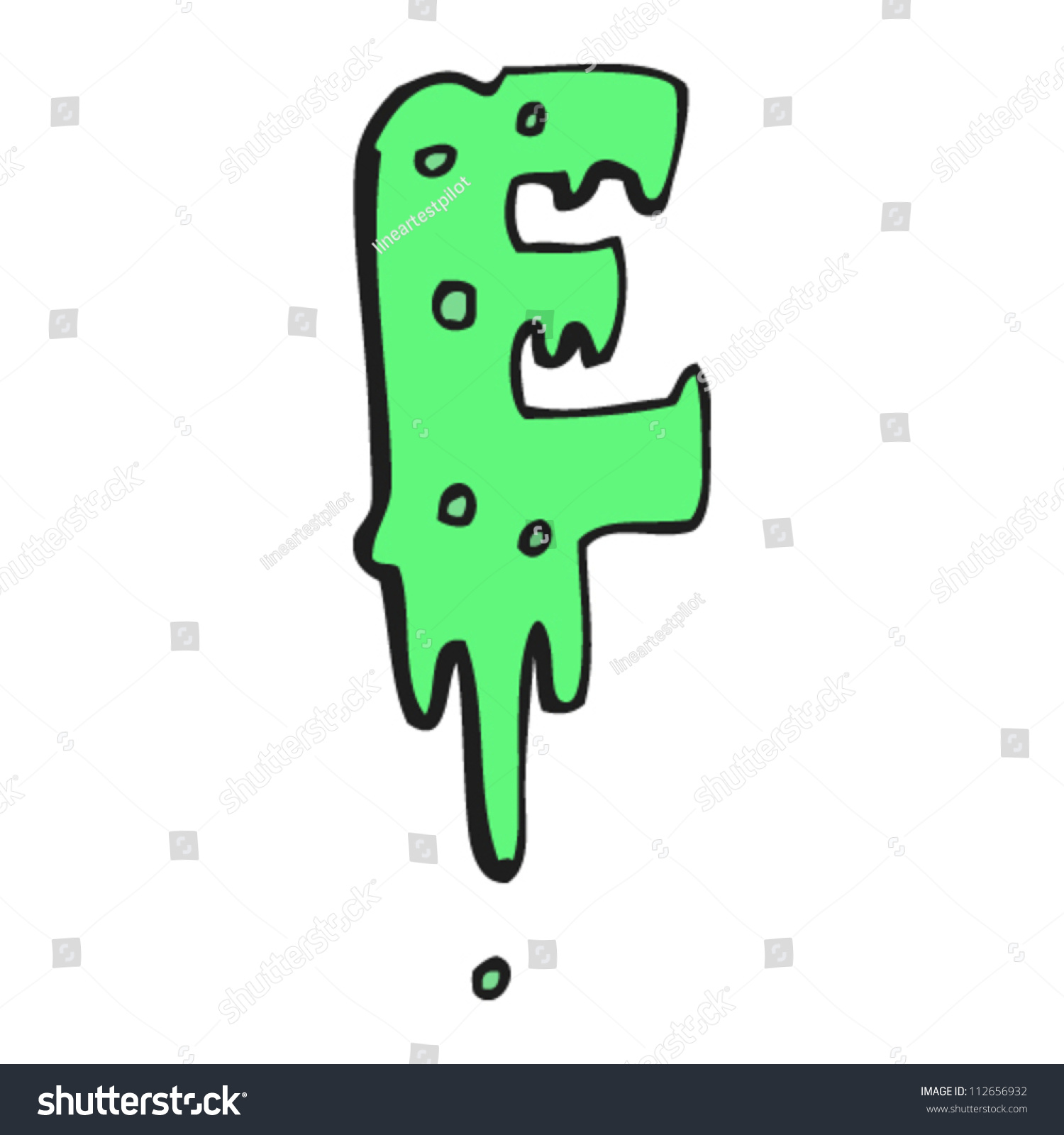 Cartoon Slime Dripping Letter E Stock Vector   Shutterstock