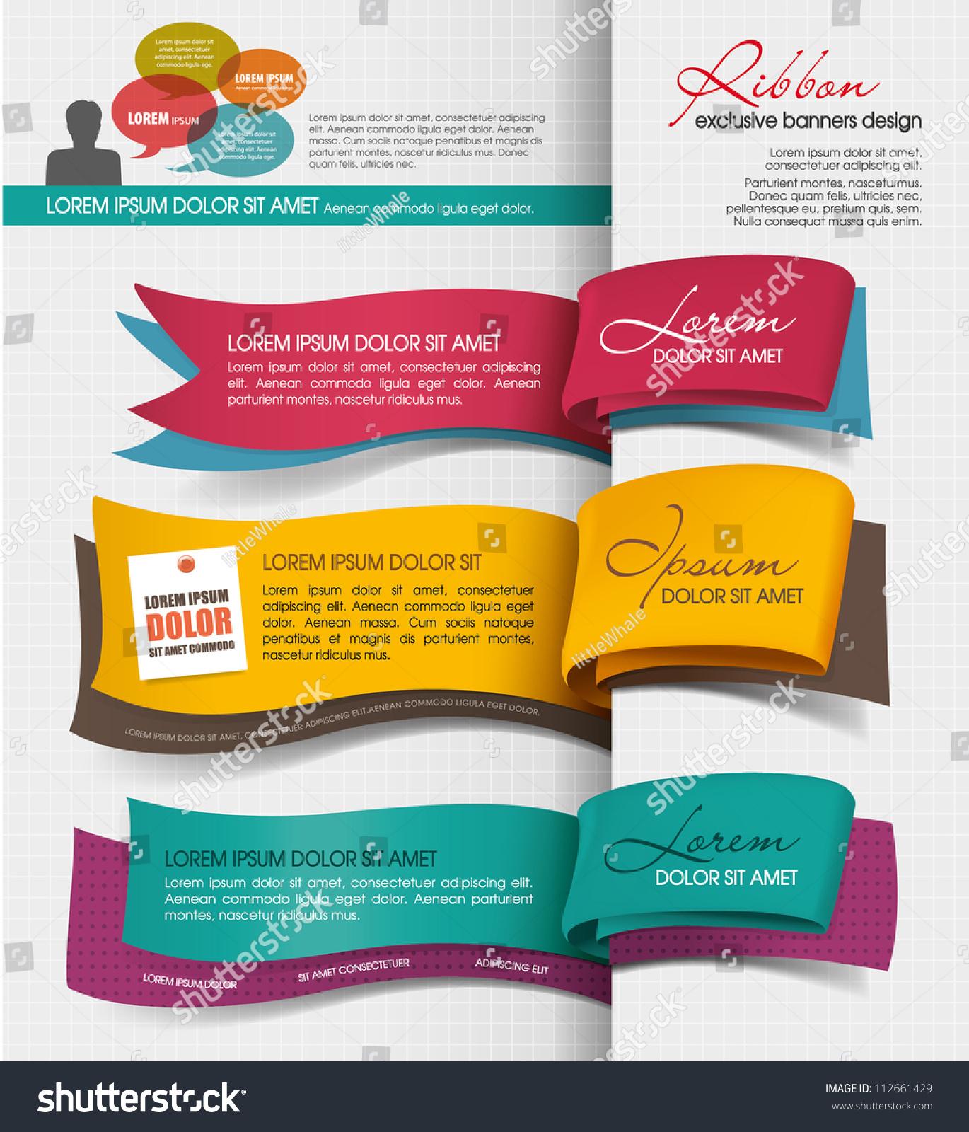 Exclusive Banner Design Stock Vector 112661429 - Shutterstock