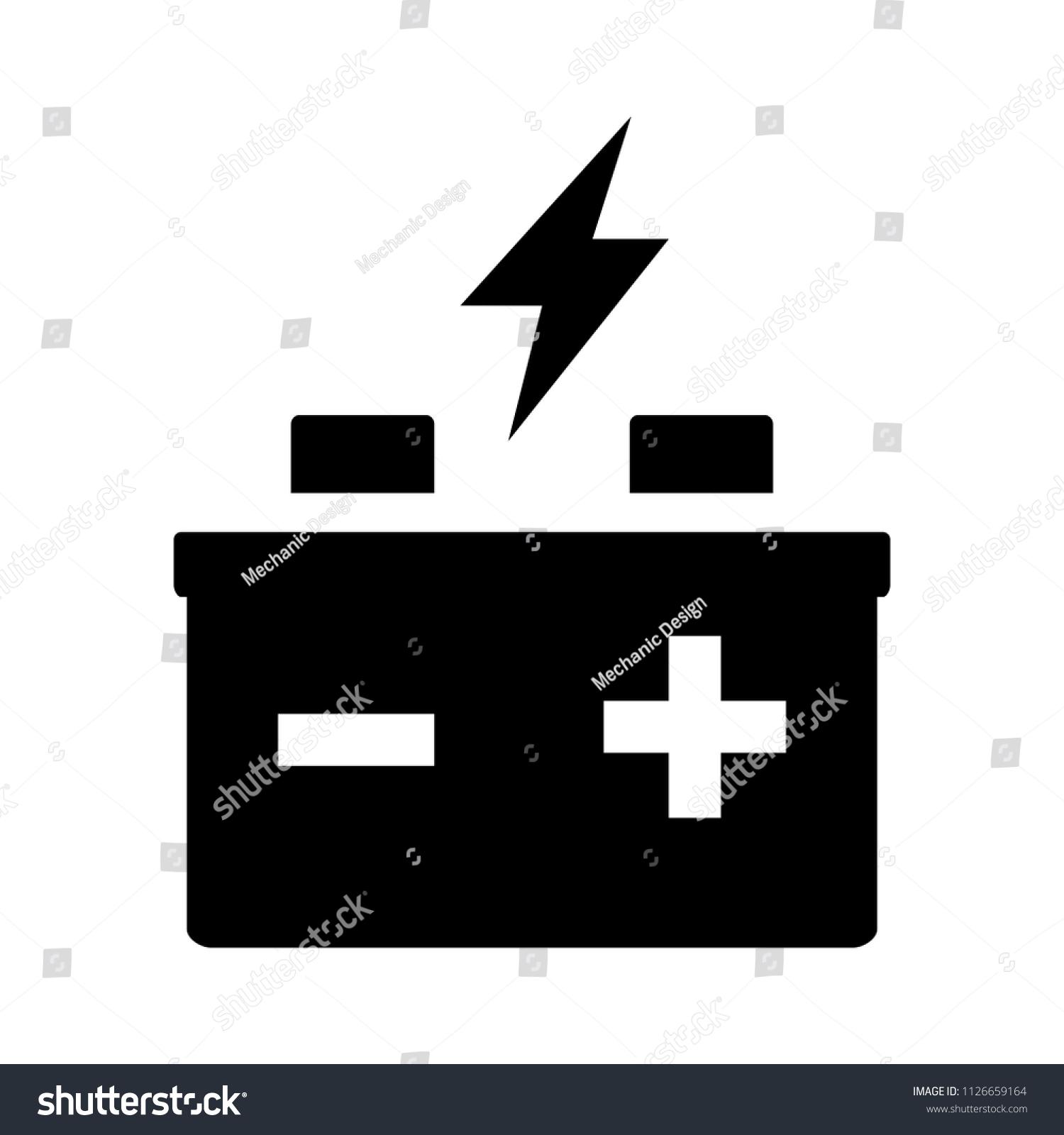 Power Concept Vector Automotive Battery Electrical Stock Vector