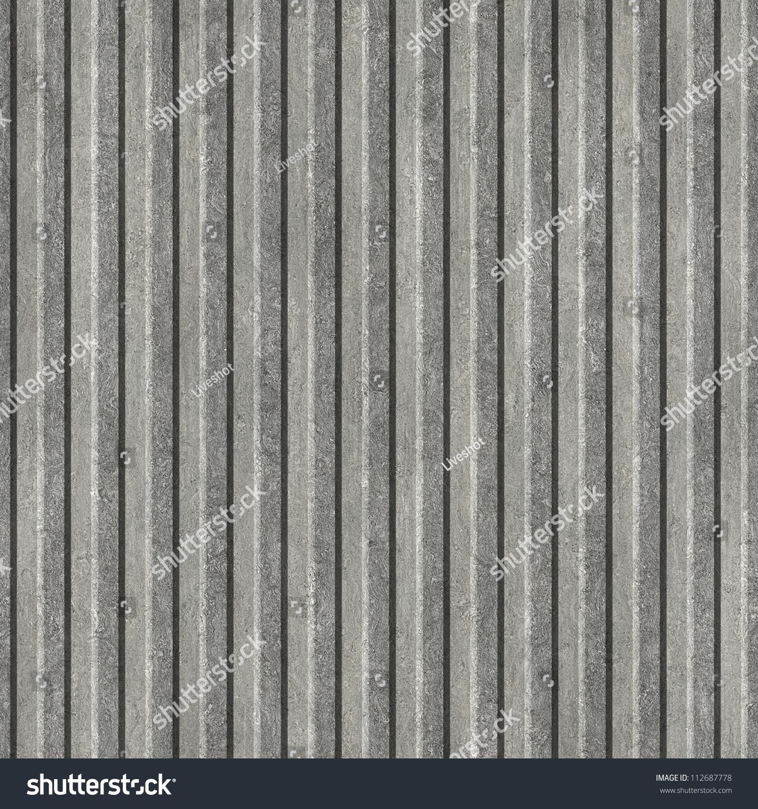 Corrugated metal  Seamless texture. Corrugated Metal  Seamless Texture  Stock Photo 112687778