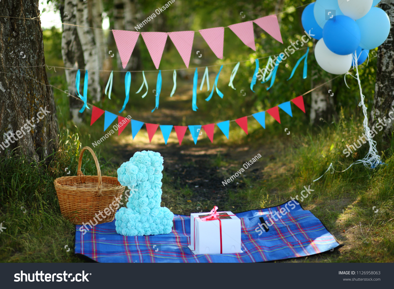 Decoration For First Birthday Smash The Cake Outdoor