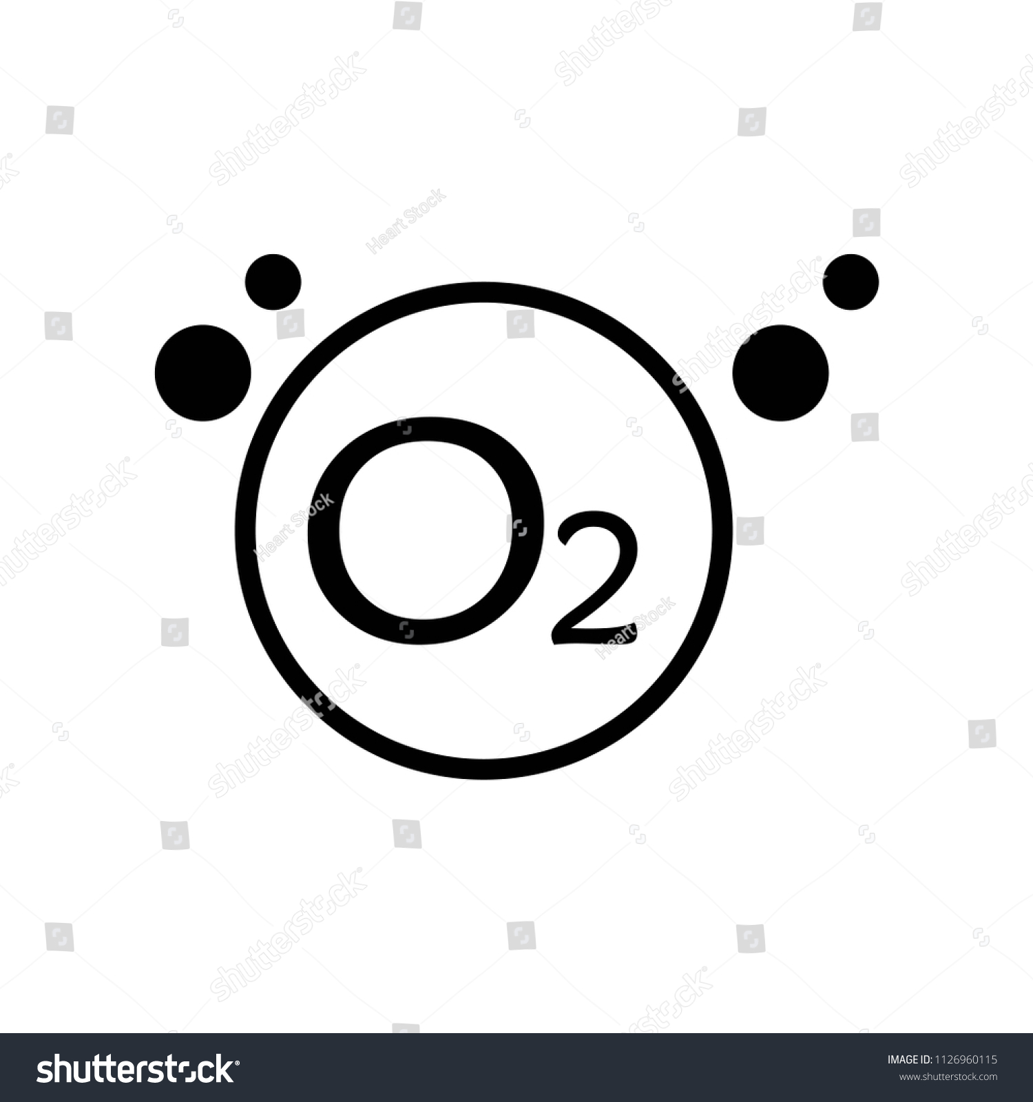 Oxygen Icon Vector Icon Simple Element Stock Vector Royalty Free