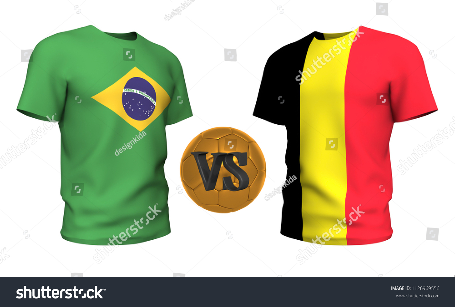 cb2d0fd74 brazil vs belgium . Soccer concept. isolated on White background with the flag  t-