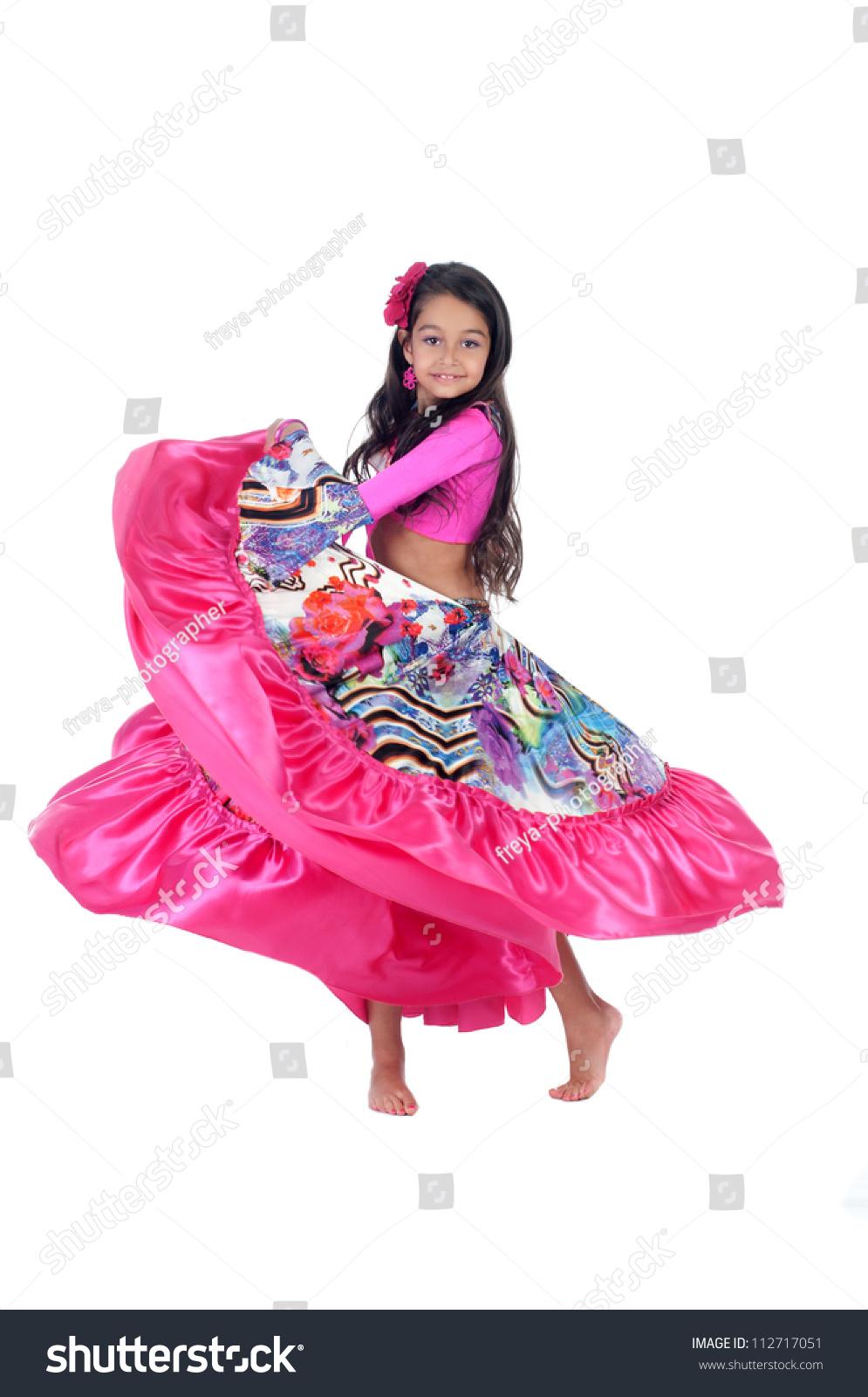 Little Girl Dancing Gypsy Dance Stock Photo 112717051 : Shutterstock