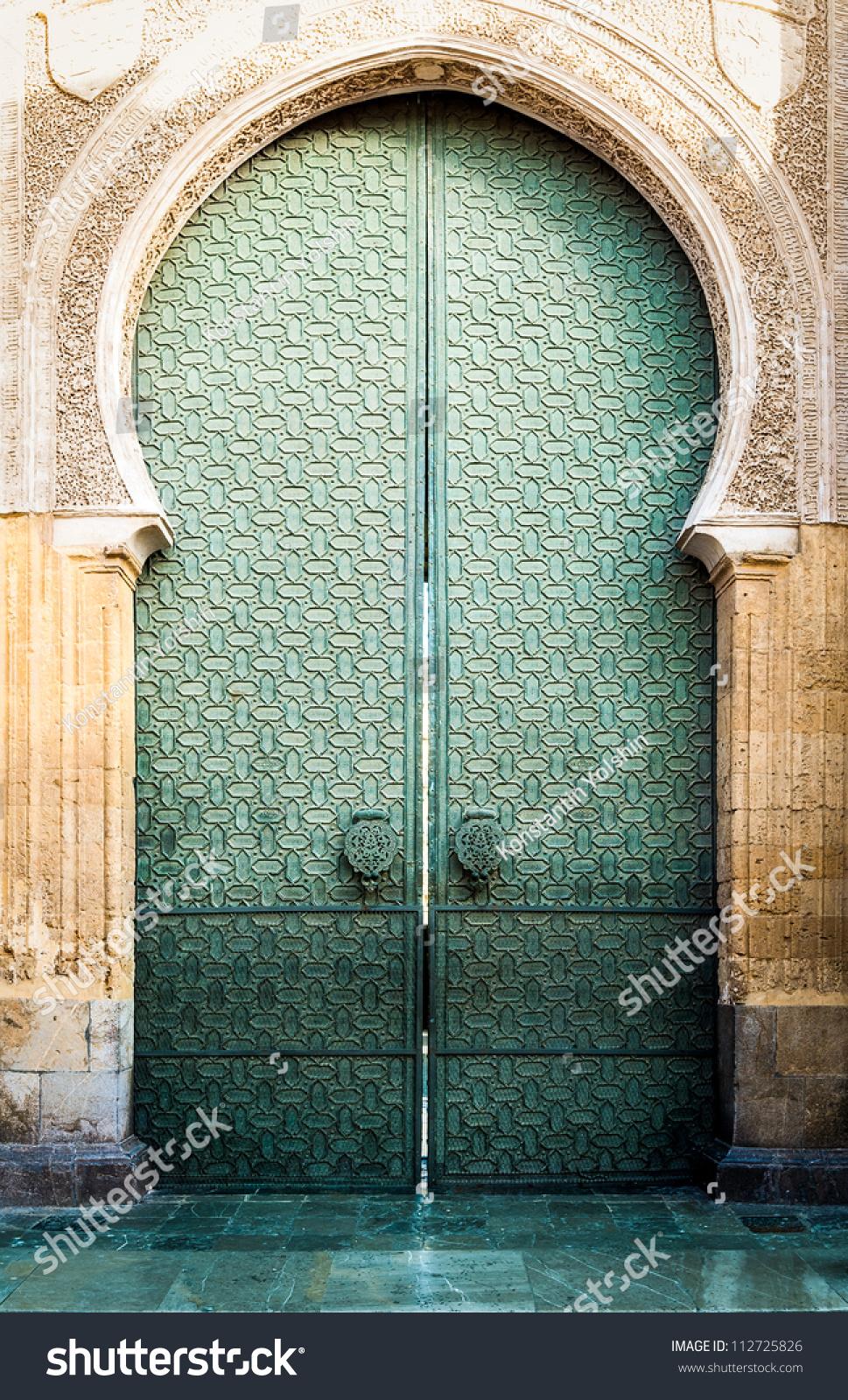 Famous Landmark Spain Beautiful Cathedral Mezquita Stock