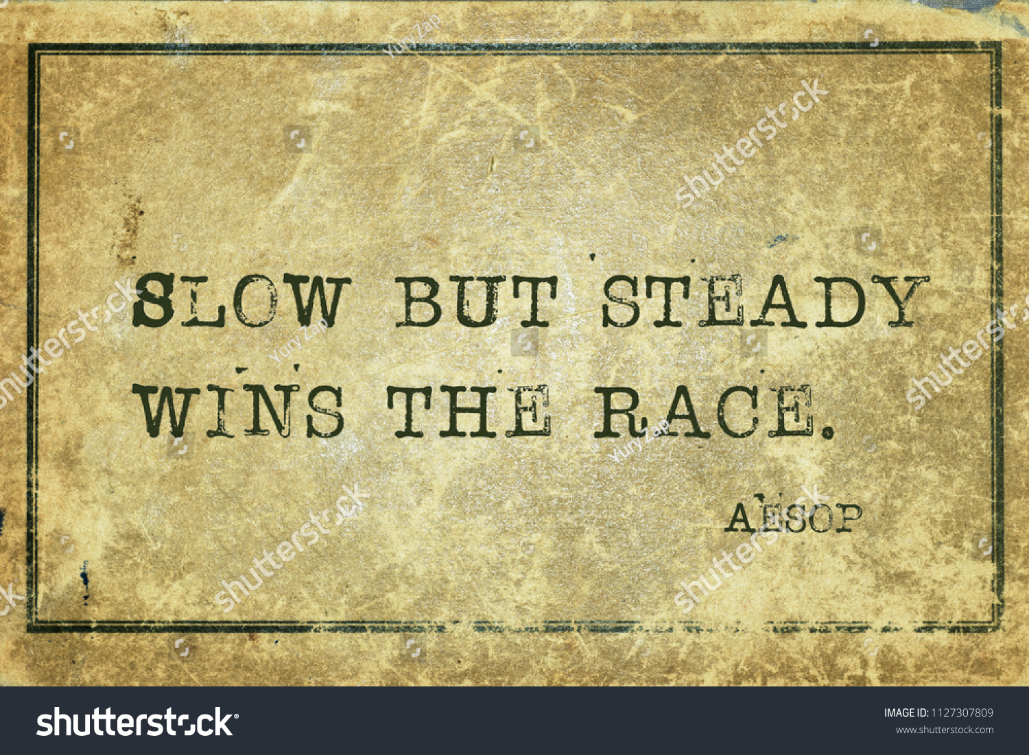 Slow Steady Wins Race Famous Ancient Stock Illustration 1127307809