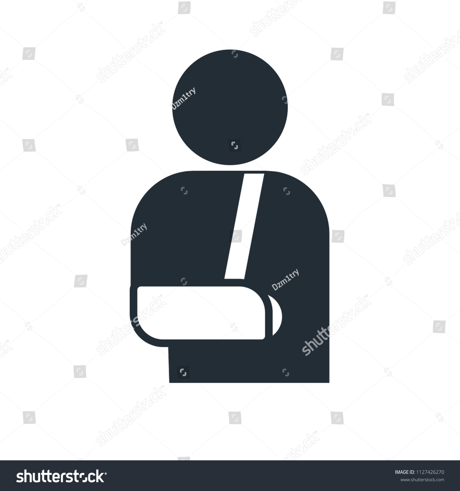 Arm Broken Sling Cast Icon Clipart Stock Vector Royalty Free