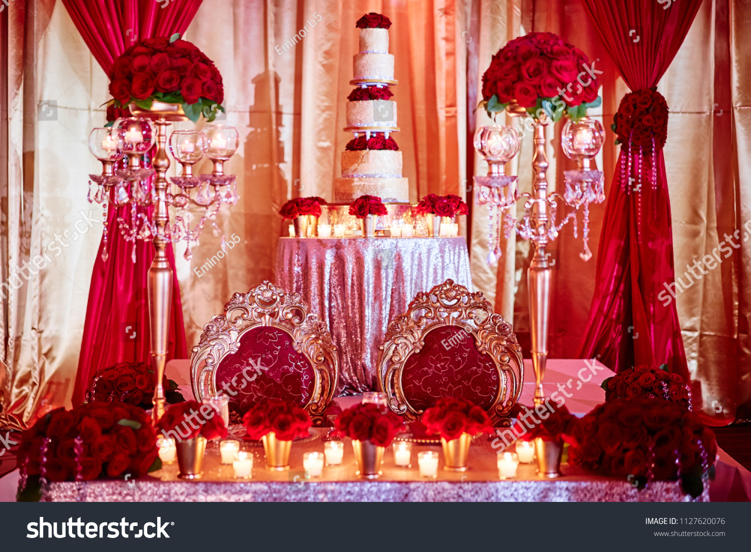 Seat Bride Groom Luxury Indian Wedding Stock Photo Edit Now