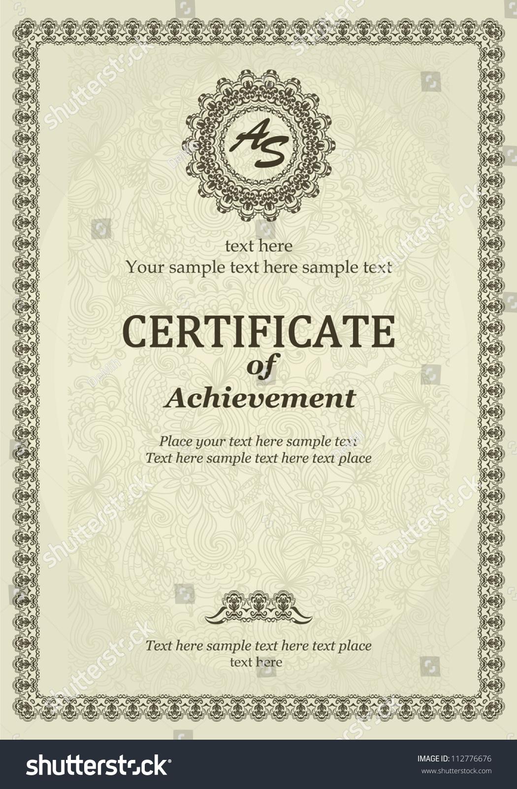 elegant classic certificate achievement vintage frames