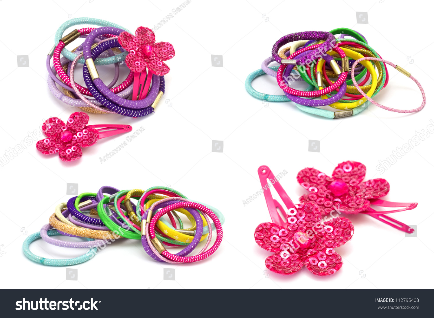 Set Colorful Hair Accessories Isolated On Stock Photo Edit Now