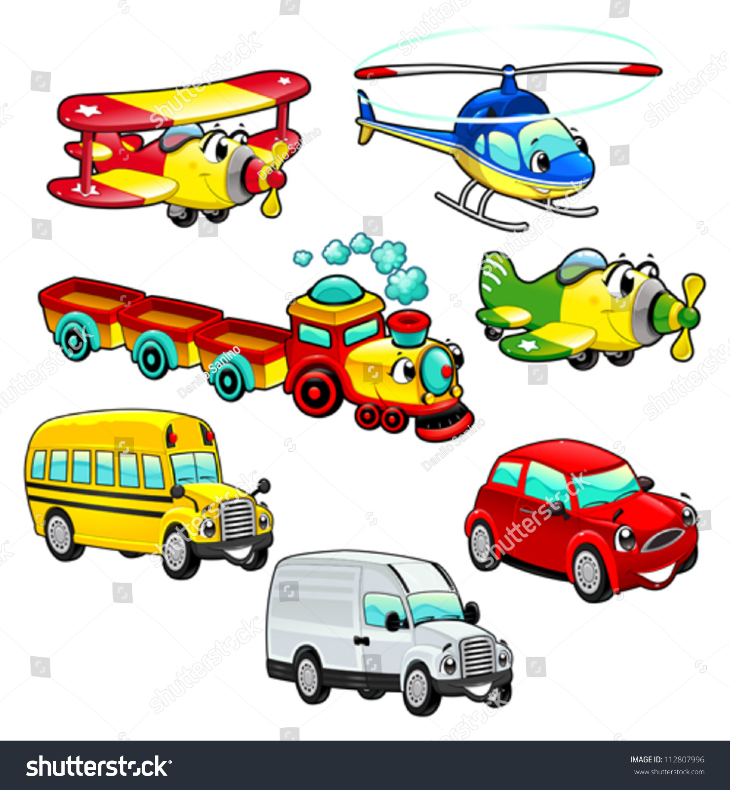 Stock Vector Funny Vehicles Cartoon And Vector Isolated Characters on baby mouth clip art