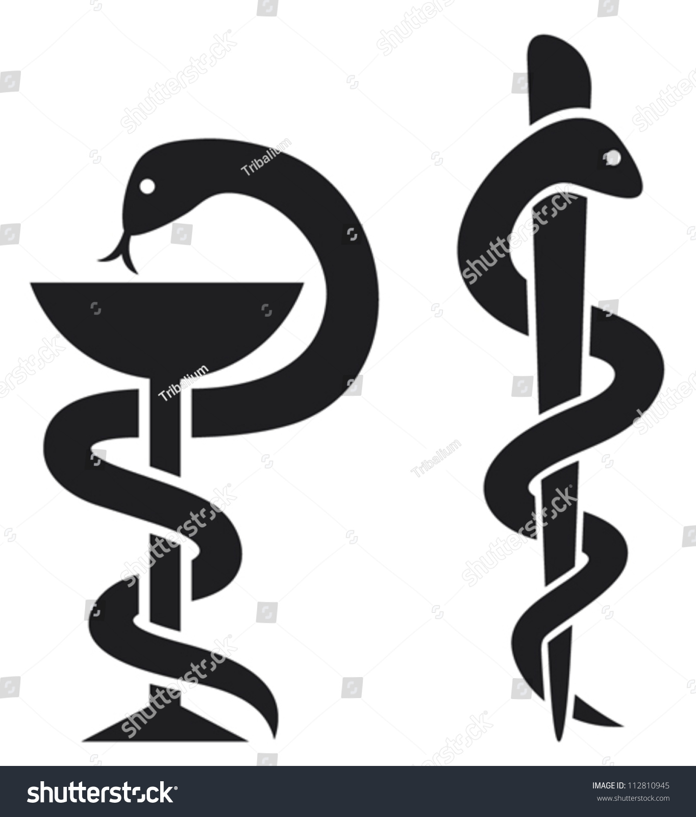 medical symbol emblem drugstore snake bowl stock vector
