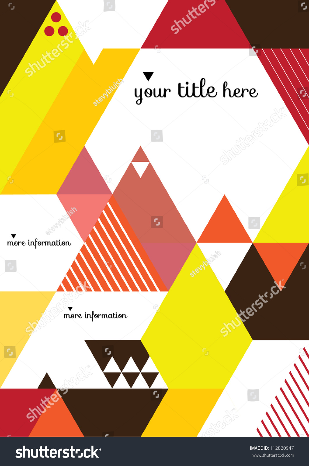 Book Coverage : Abstract geometric background vector illustration book