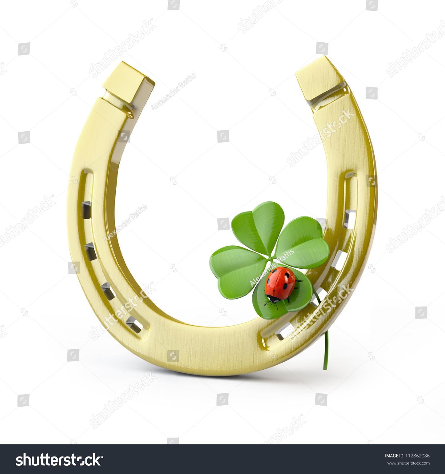 Lucky symbols horseshoe fourleaf clover ladybug stock illustration lucky symbols horse shoe four leaf clover and ladybug buycottarizona