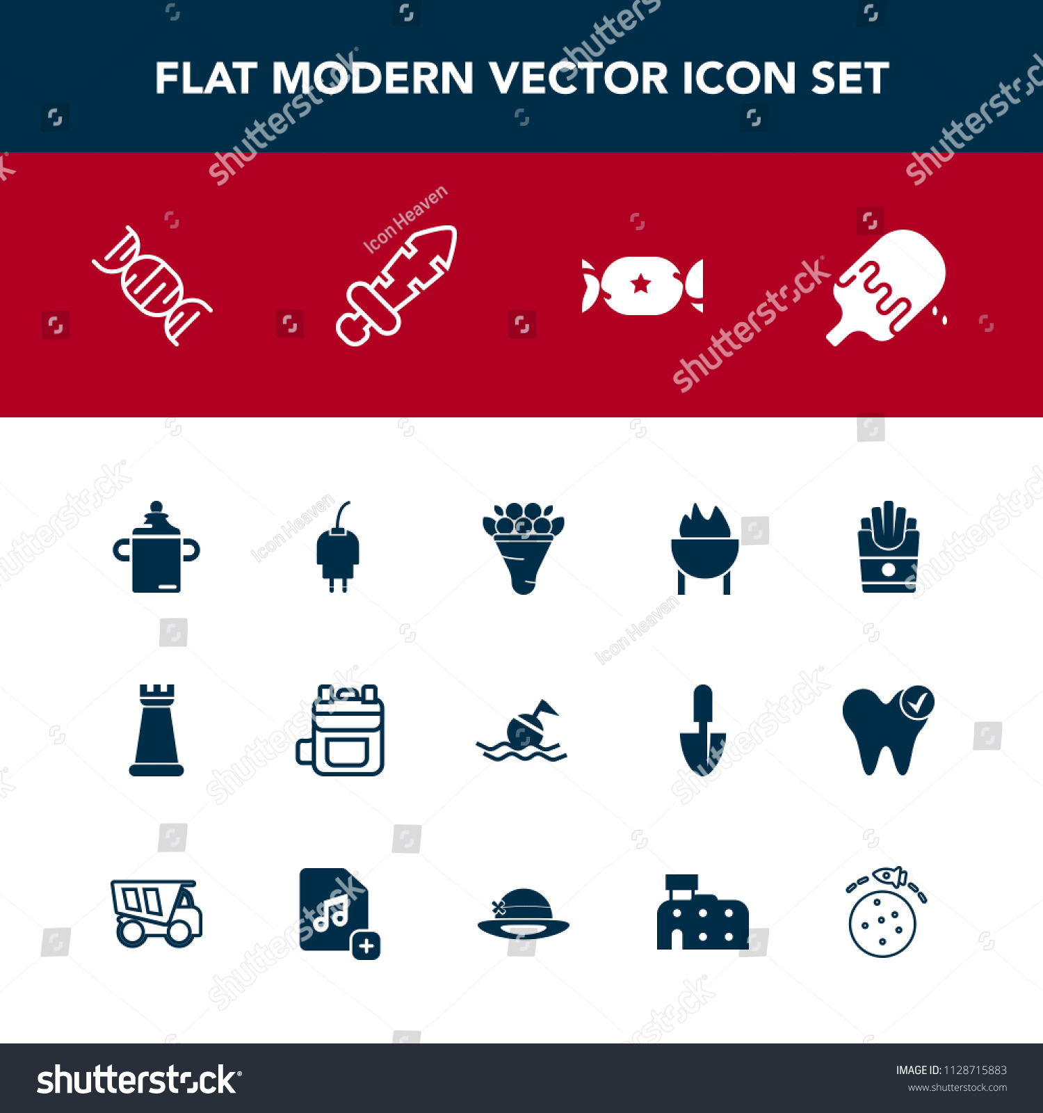 Modern Simple Vector Icon Set Power Stock Vector Royalty Free 1128715883