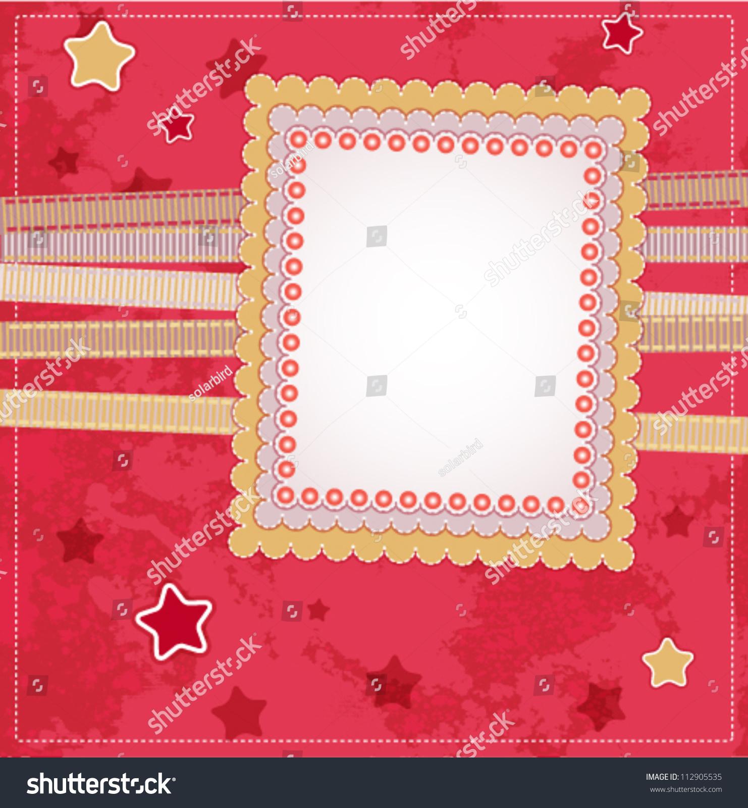 Romantic Scrapbook For Invitation, Greeting, Happy