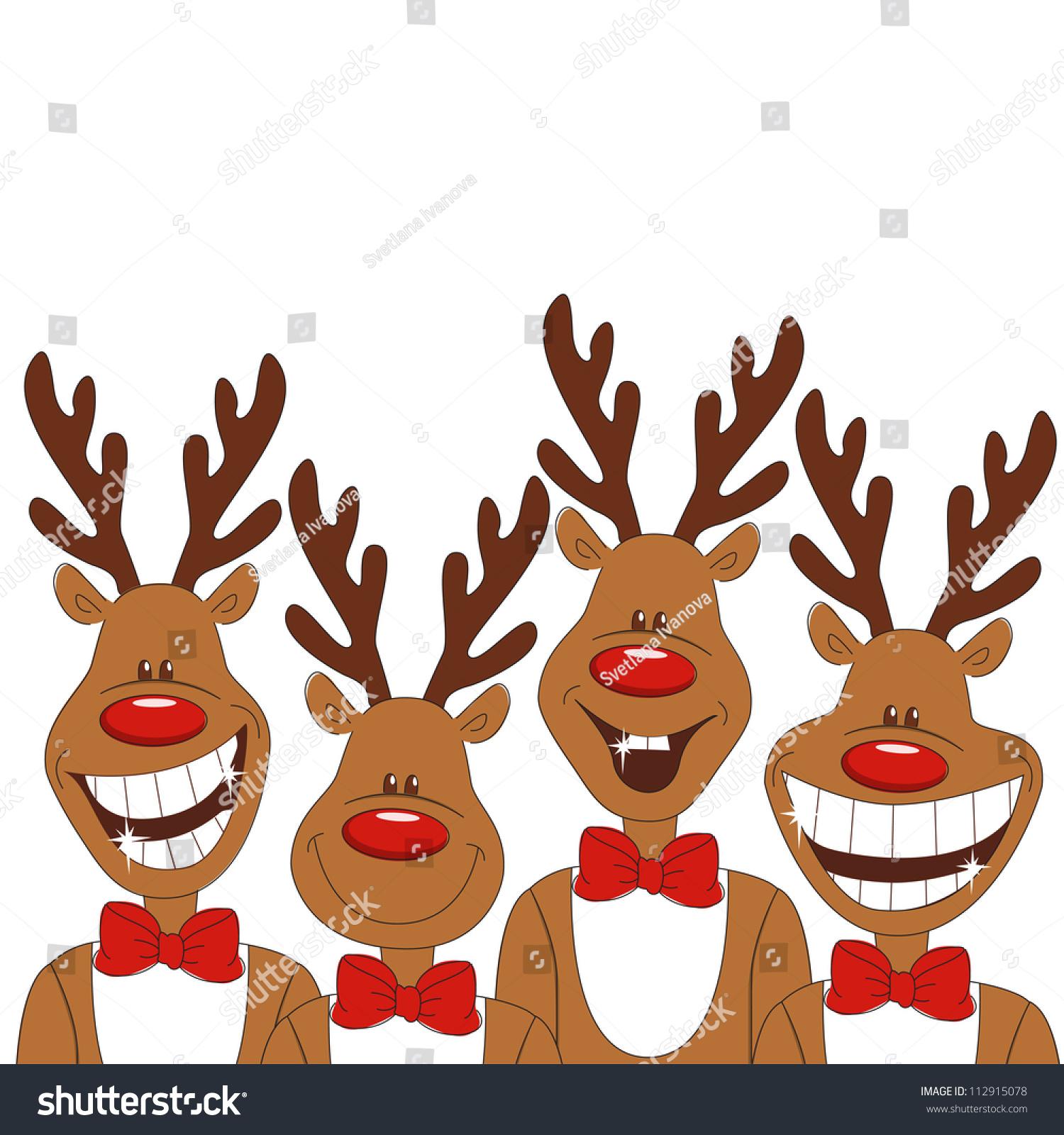 christmas illustration cartoon reindeer vector stock. Black Bedroom Furniture Sets. Home Design Ideas
