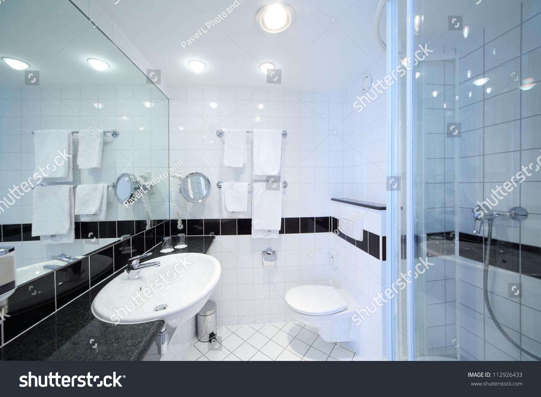 Stylish Modern Bathroom Shower Sink Toilet Stock Photo (Edit Now ...