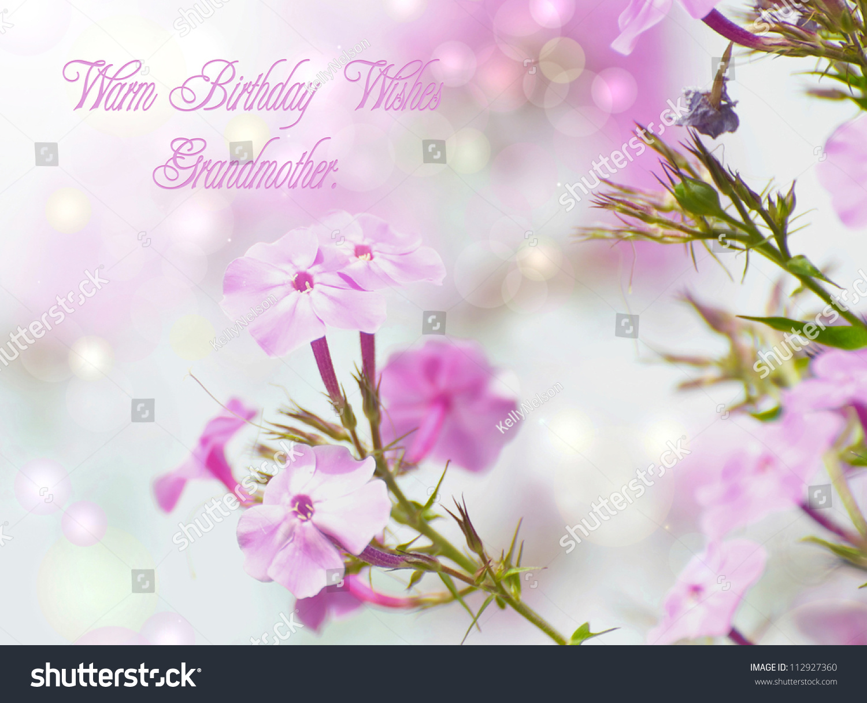 Birthday Card Design Grandmother Featuring Beautiful Stock Photo