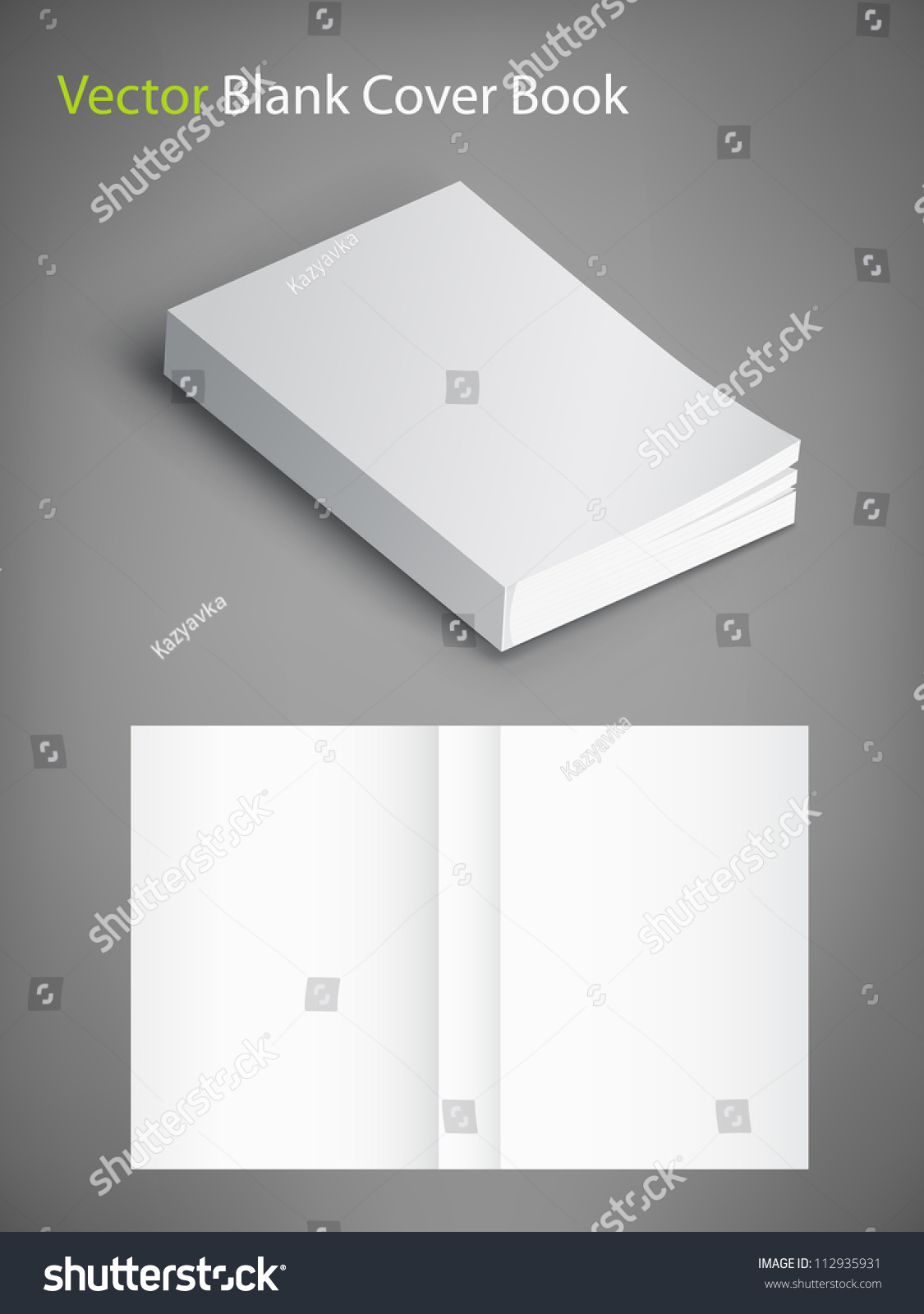 Blank Book Cover Vector Illustration Free : Blank book cover vector illustration template for your