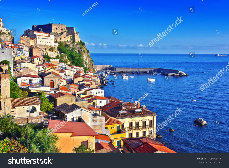Fotografi A Reggio Calabria city scilla province reggio calabria italy stok fotoğrafı